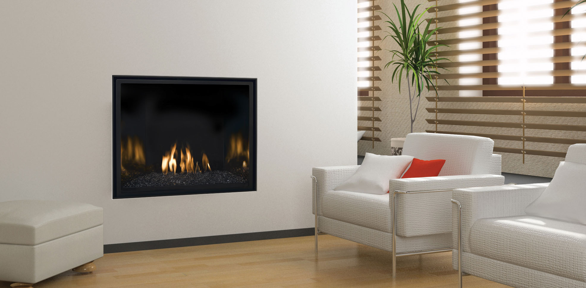 Contemporary Gas Fireplace - Mendota FV41m