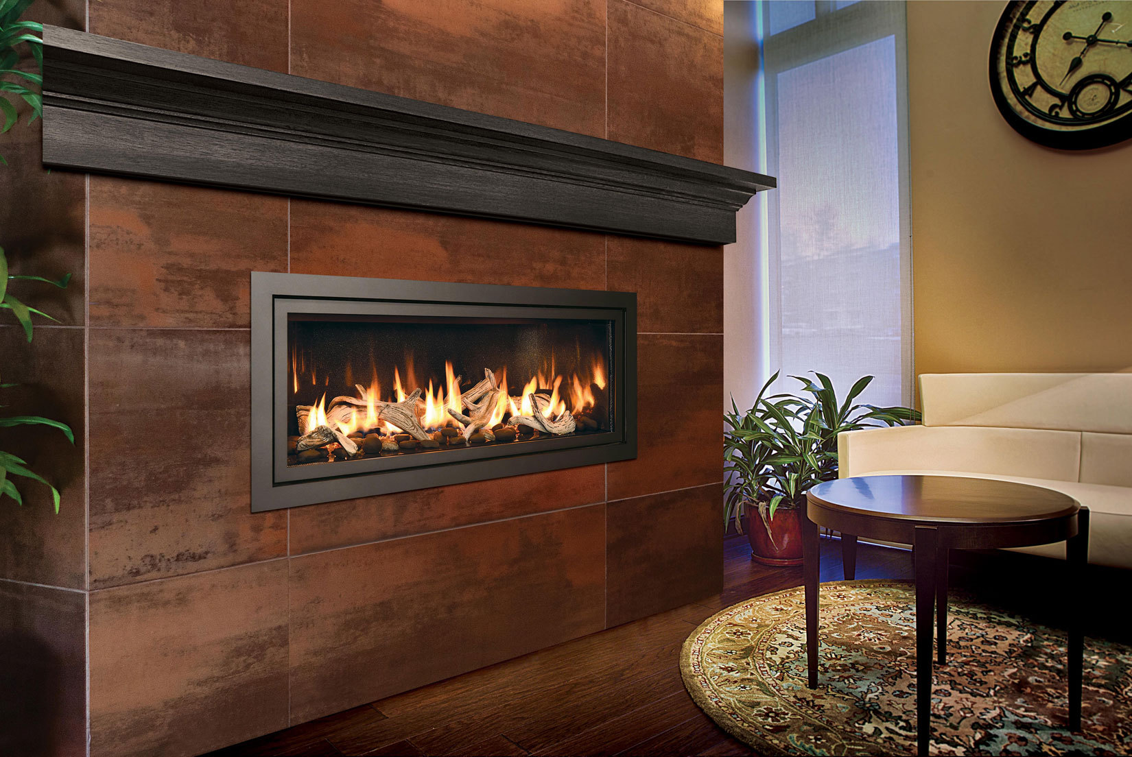 Contemporary Gas Fireplace - Mendota ML47