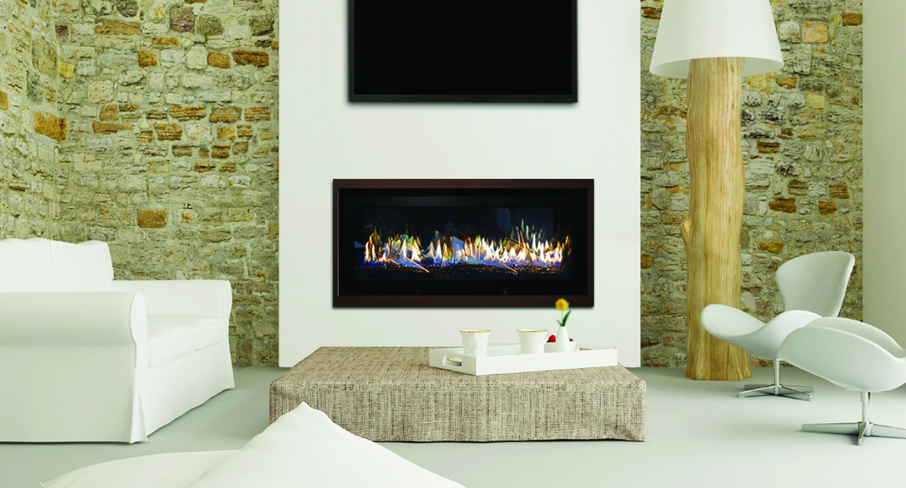 Contemporary Gas Fireplace - Stellar