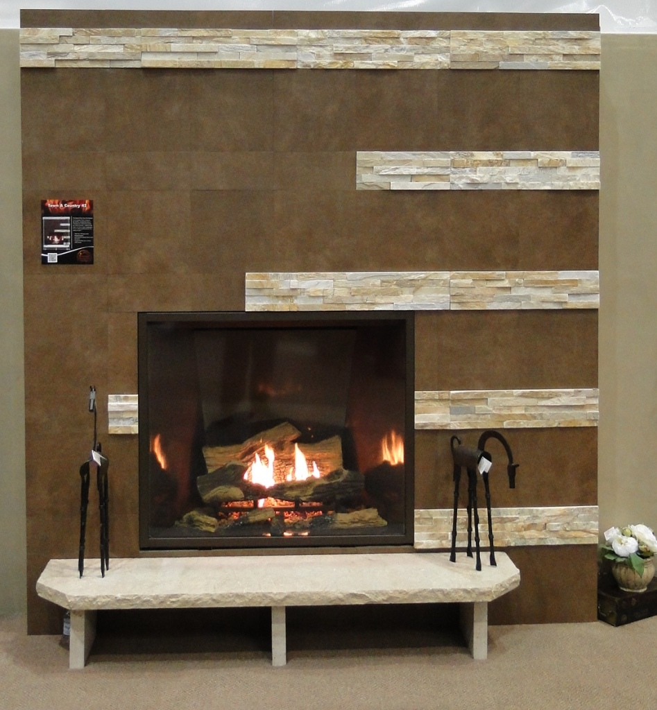 Contemporary Gas Fireplace - Town & Country