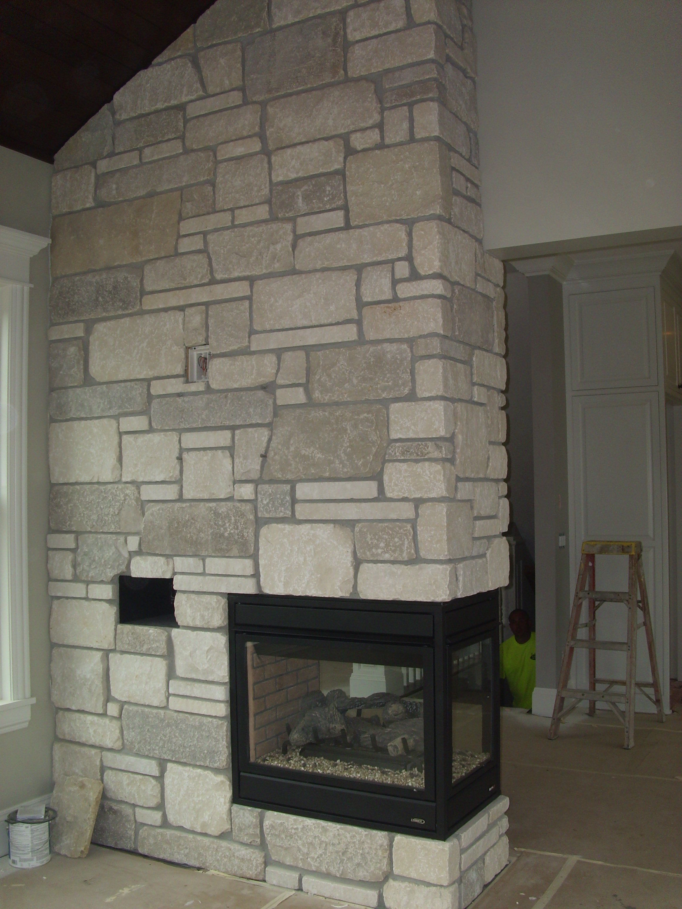 Lennox, pier fireplace, 3-sided fireplace, traditional fireplace