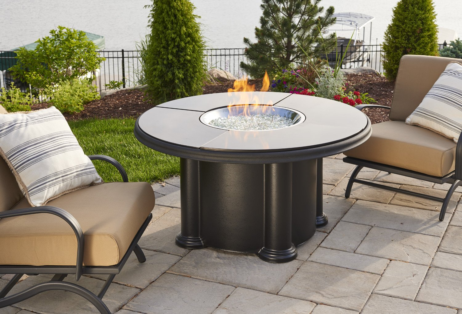Grand Colonial, granite, dining table, promotion, sale, fire pit, firepit, fire table,  firetable, Outdoor Greatroom Company