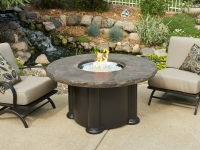 Gas Fire Pit - Marbleized Noche Colonial