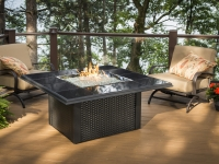 Gas Fire Pit Table - Black Napa Valley