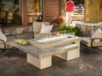Gas Fire Pit Table - Brown Uptown