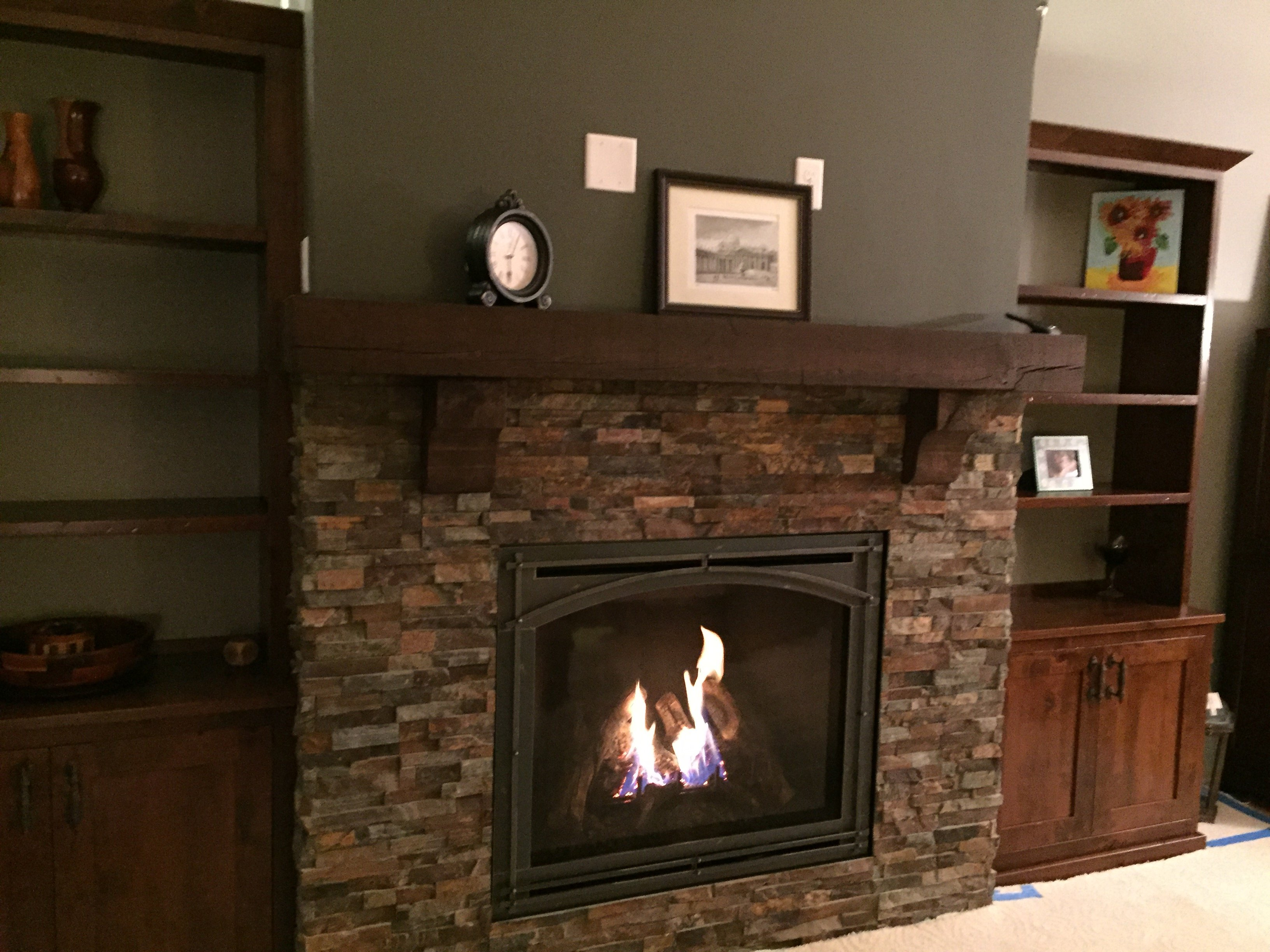 Kozy Heat, Bayport w/Arched Mission Screen Front in Weathered Charcoal, traditional fireplace