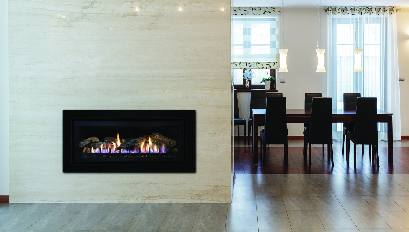 Traditional Gas Fireplace - CTL1 Kitchen