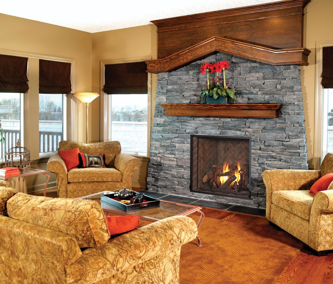 Traditional Gas Fireplace - Kozy Alpha