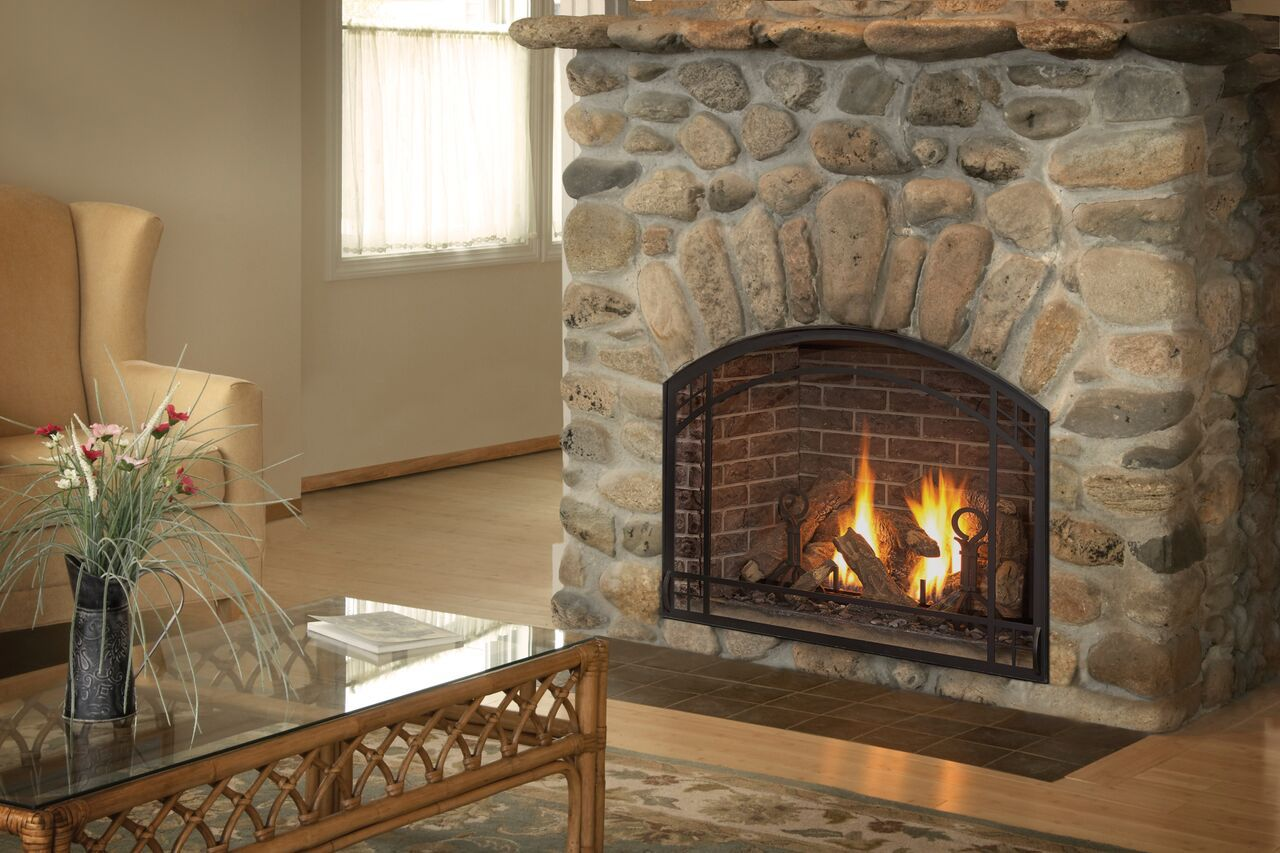 Traditional Gas Fireplace - Kozy Alpha Arches