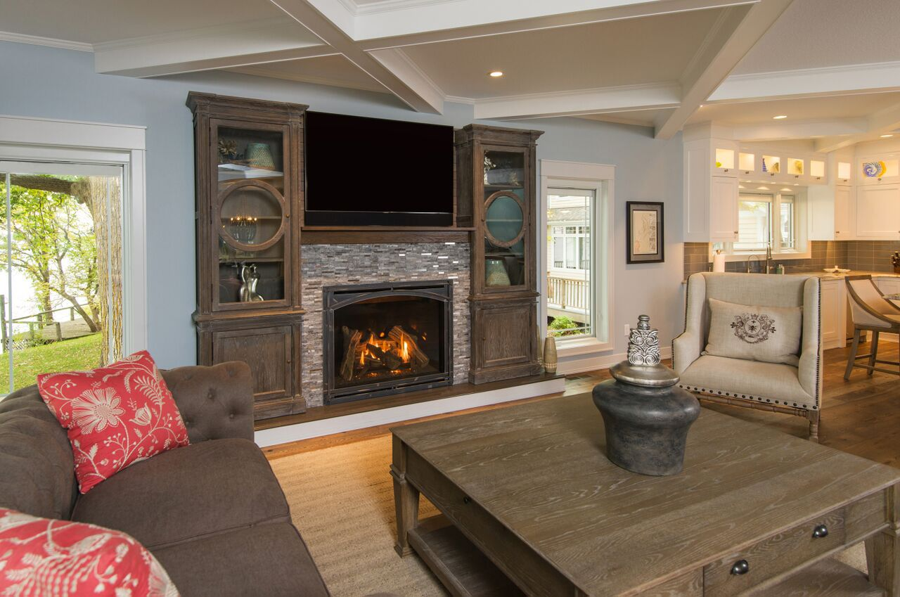Traditional Gas Fireplace - Kozy Carlton Arched