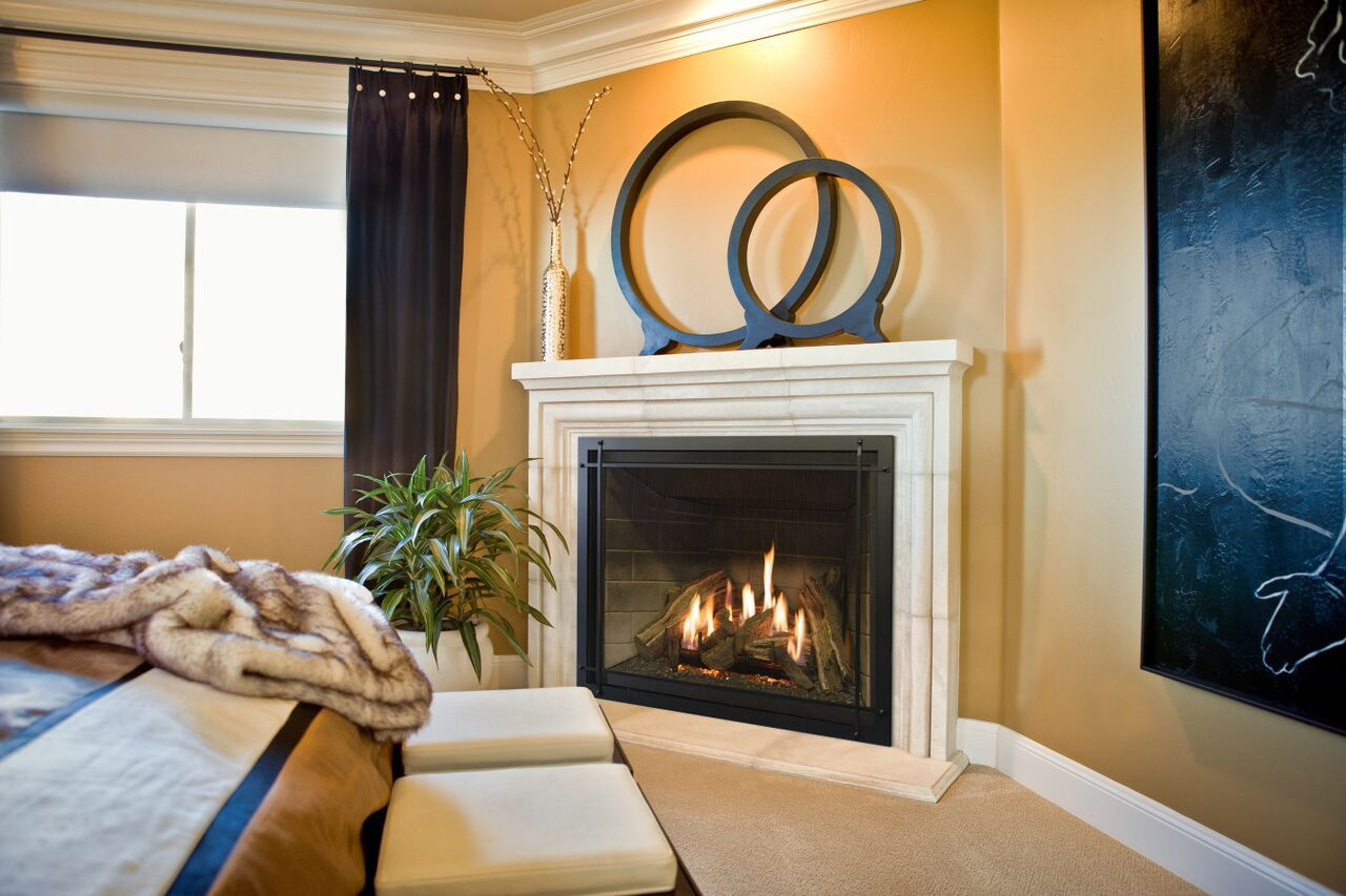 Traditional Gas Fireplace - Kozy Carlton Mason Prairie