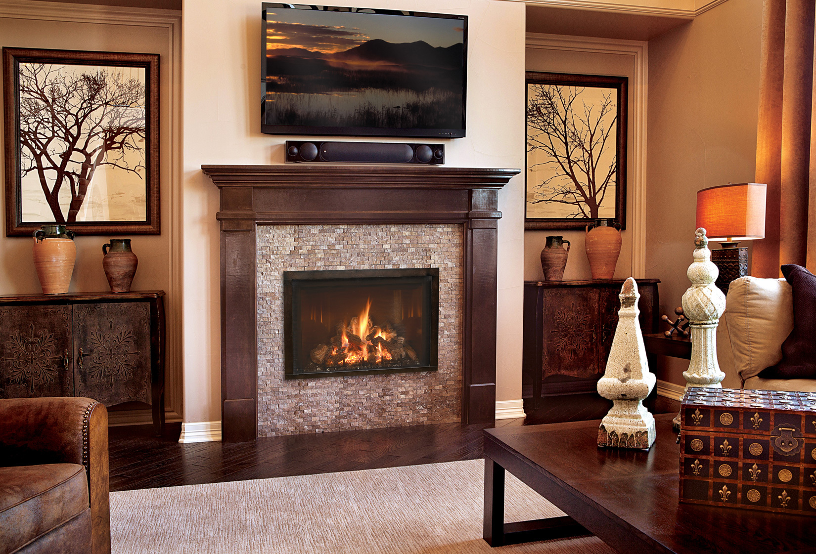 Traditional Gas Fireplace - Mendota FV34