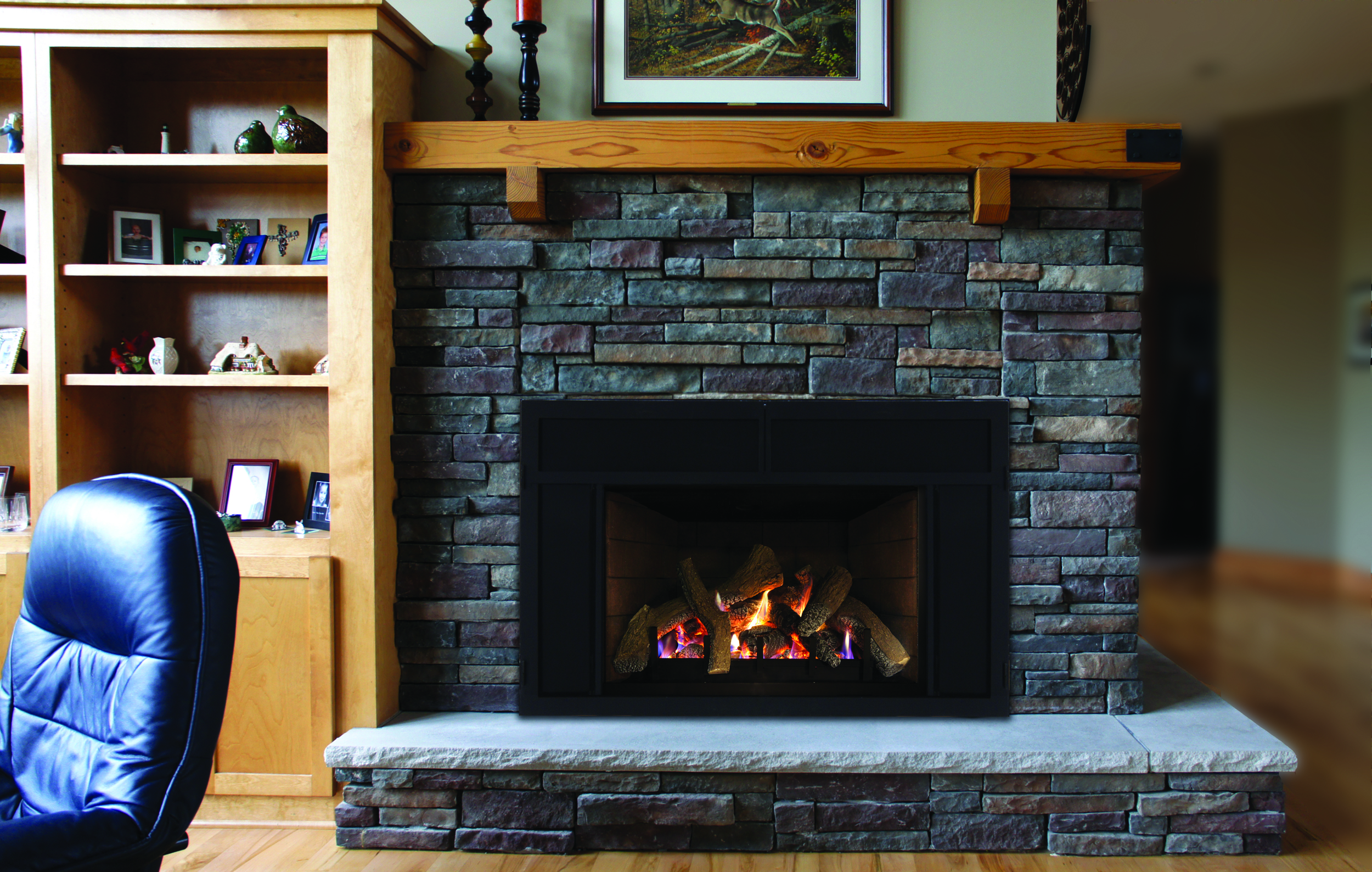 Traditional Gas Fireplace - Stellar