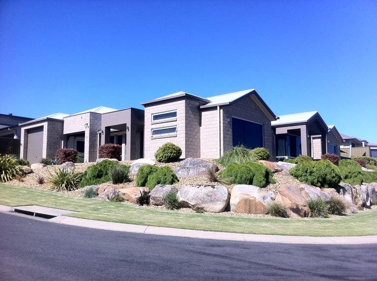 modern house with blue sky