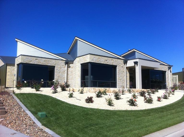 modern angled roof