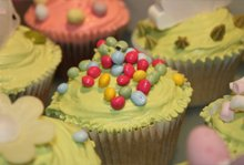 Children's party food - Hampstead Heath, London - The Highgate Pantry - light green cakes chips