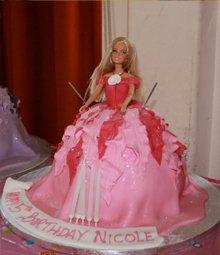 Birthday cakes - Highgate, London - The Highgate Pantry - pink barbie cake
