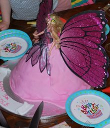Birthday cakes - Highgate, London - The Highgate Pantry - barbie cake from top