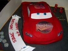 Birthday cakes - Highgate, London - The Highgate Pantry - cars cake