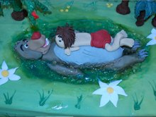 Celebration cakes - Upper Holloway, London - The Highgate Pantry - baloo and mowgli cake