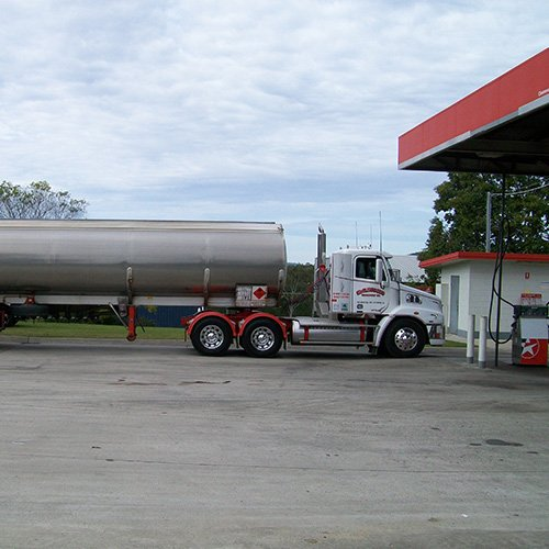 fuel truck at station