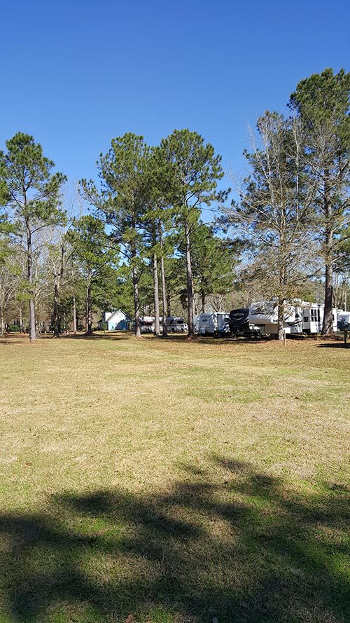 Camping ground near the Sun Runner office