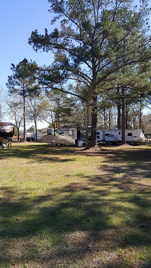 Caravan parked at the camping grounds