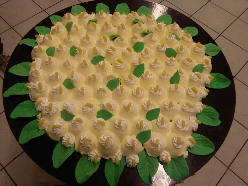 Torta di limone e menta