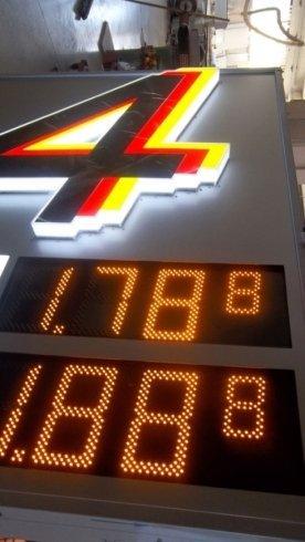 insegne luminose tabelloni benzinai