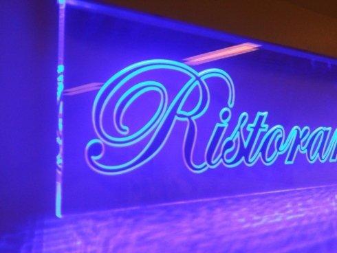 ristorante, led, neon, cassonetti, insegne luminose