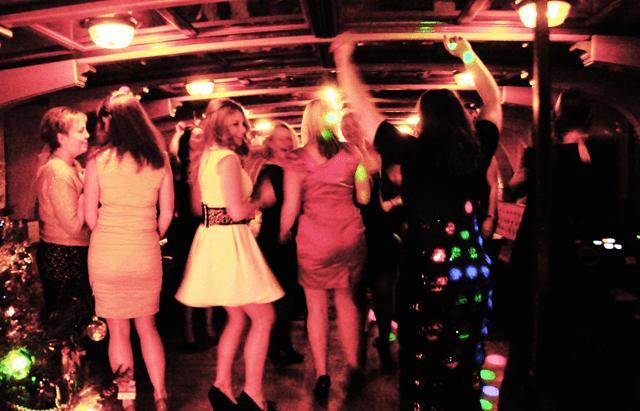 dancing at a Hobbs Christmas party