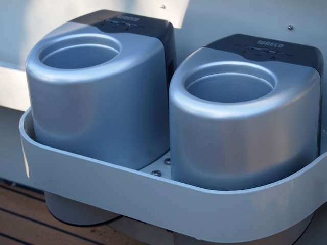 Built in drinks chiller/holder on board