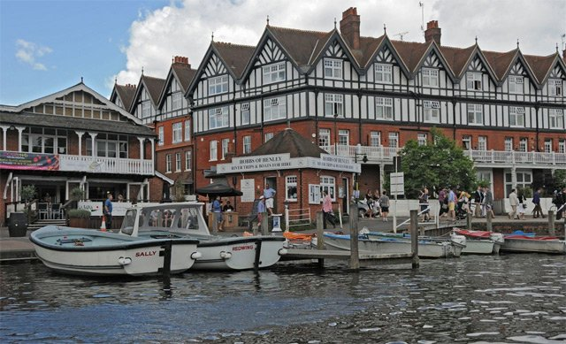 pilot class launched moored up in Henley