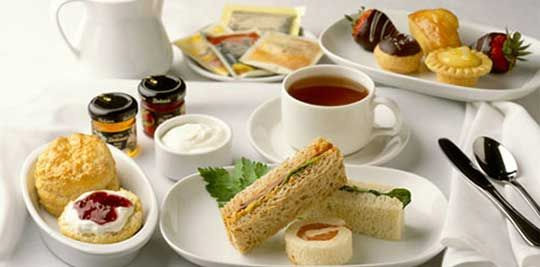 Afternoon tea, finger sandwiches & scones