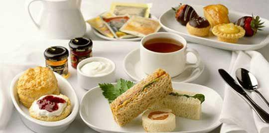 Afternoon tea, finger sandwiches & scones