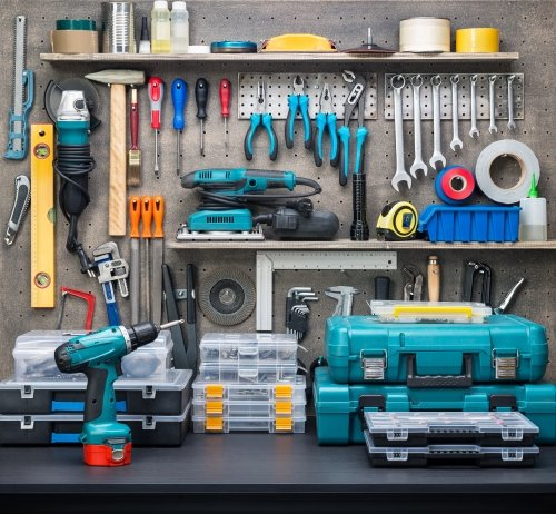 Bancone con strumenti