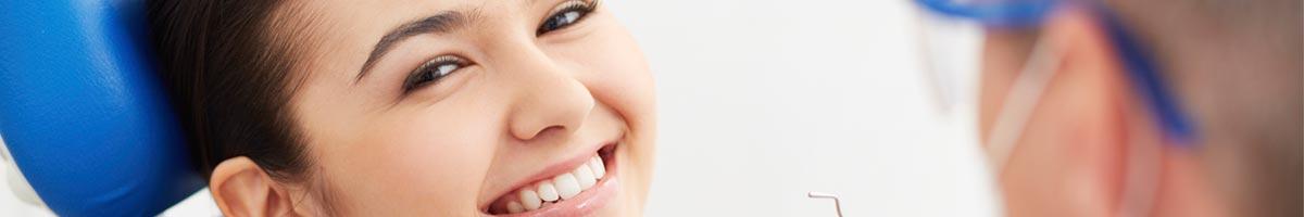 woman having a dental check up
