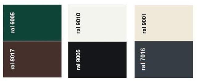 Cartella colori per inferriate estensibili