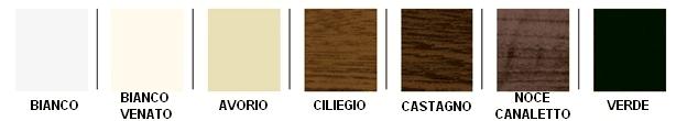 Gamma colori infissi pvc