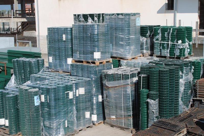 Rete elettrosaldata zincata e plastificata
