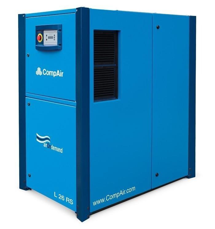 Compressore rotativo silenziato tecnologia inverter o ON/OFF gamma da 23 a 29 kw con controllo elettronico delcos Pro..