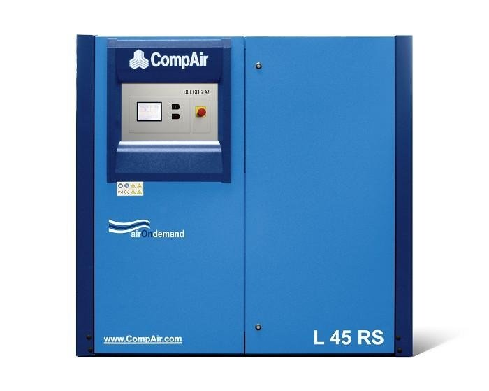 Compressore rotativo silenziato tecnologia inverter,o ON/OFF, gamma da 30 a 45 kw con controllo elettronico delcos XL