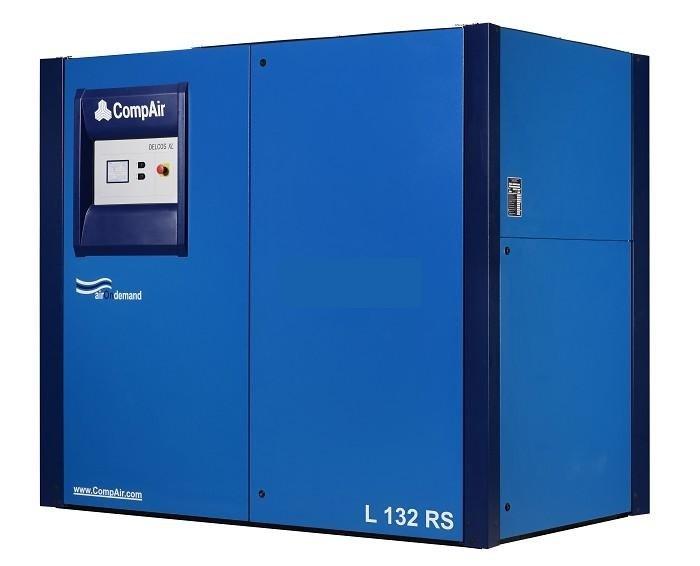 Compressore rotativo silenziato tecnologia inverter o ON/OFF gamma da 90 a 132 kw con controllo elettronico delcos XL.