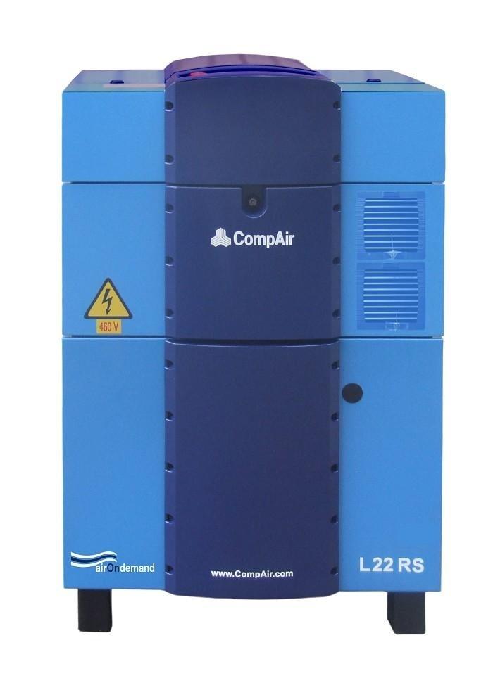 Compressore rotativo silenziato tecnologia inverter gamma da 11 a 22 kw con controllo elettronico delcos Pro.