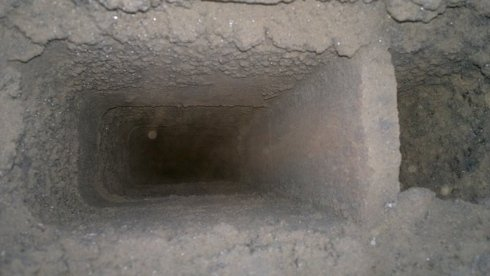 Canna fumaria in conglomerato cementizio dopo
