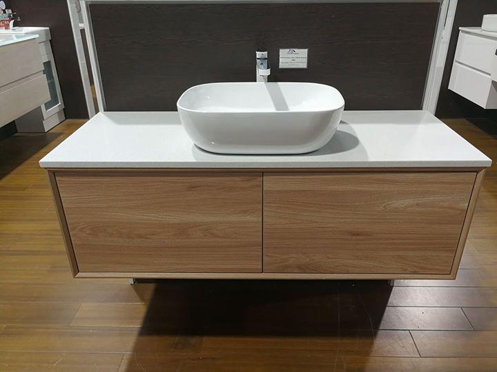 1200mm Timber look wall hung vanity. Vanities   Melbourne   Bayside Bathroom   Kitchen Centre