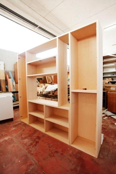 mobile su misura con struttura in legno
