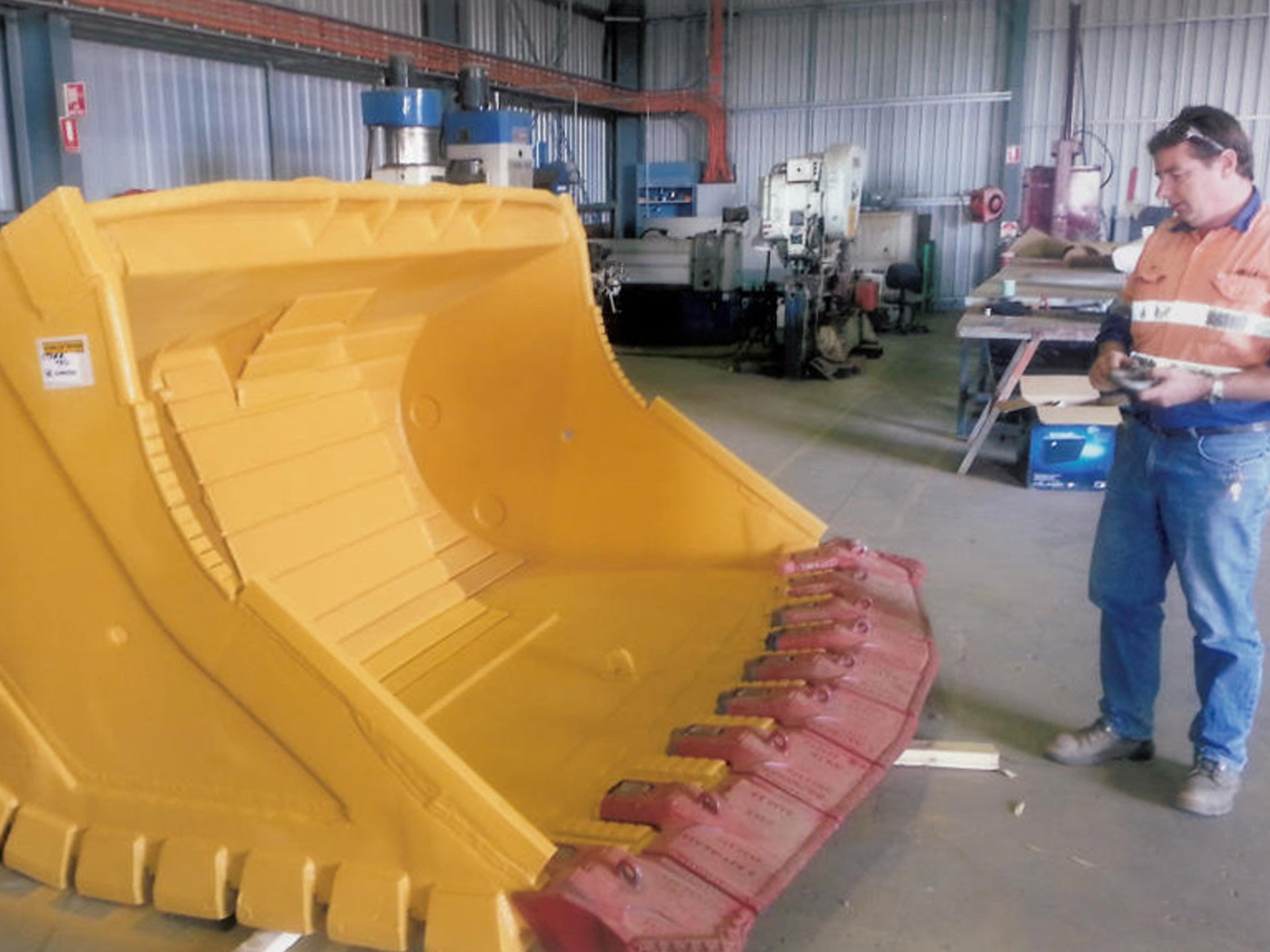 View of the fabrication work done by expert