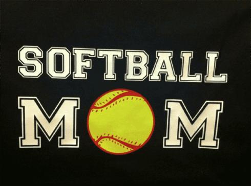 """T-shirt FLEX """"Softball MOM"""""""