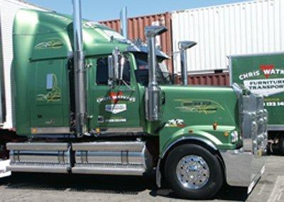 Chris Watkins furniture removals truck in Hobart, Tasmania
